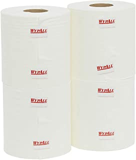 WypAll 94178 WypAll X70 Centrefeed Roll Wipers, White, 220 Wipers/Roll, Case of 4 Rolls, White 6.400 kilograms