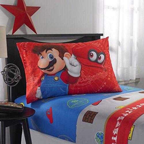 Super Mario Odyssey World 3 Piece Twin Sheet Set