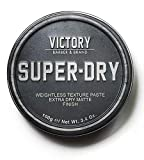 Super-Dry Men's Hair Paste by Victory Barber & Brand   Men's Hair Products Made in the USA   Matte Hair Product Men Like Better than Matte Hair Gels   Oil-Free Texture Paste for the Effortlessly Cool