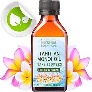 MONOI OIL TAHITIAN TIARE POLYNESIAN. 3.33 Fl.oz. – 100 ml. Moisturizing, Toning, & Anti Aging Benefits - For Glowing Skin & Shiny hair.