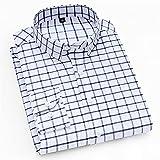Camisas Impresas Casuales De Los Hombres De Manga Larga Manera Social Ropa Delgada De La Ropa Liviana Botones Casual (Color : 8116, Size : L.)