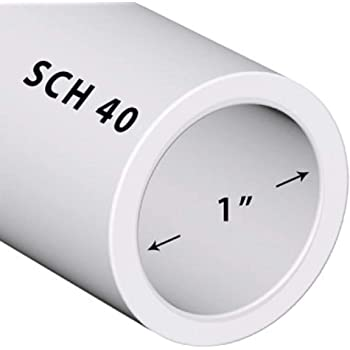 """Charlotte Pipe PVC SCH 40 Solid Pipe 1"""" X 2 '"""