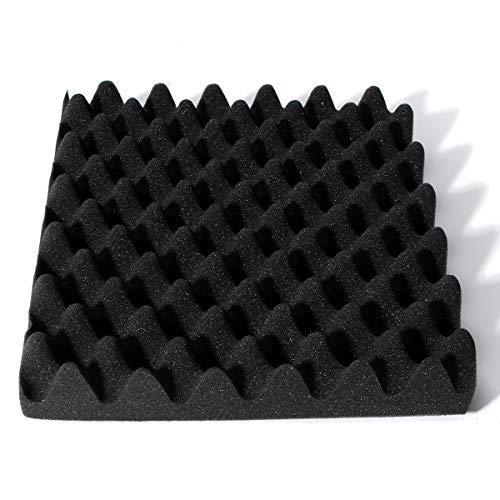 『Enipate 吸音材 ウレタン スポンジ 波型 24枚セット 30*30*3cm ウレタンフォーム 防音 12枚セット (24枚セット・ブラック)』の6枚目の画像