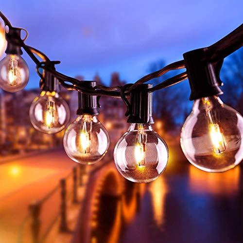 Lichterkette Außen AETKFO Lichterkette Glühbirnen G40 9.5m (25 Birnen,4 Ersatzbirnen) Lichterkette aussen für Garten, Bäume, Terrasse, Weihnachten, Hochzeiten, Partys (warmweiß) wasserdichtIP44