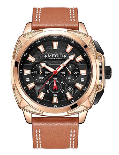 Reloj de los Hombres Reloj de los Hombres de Hombres Reloj Deportivo Ocasional Cronógrafo Impermeable Fecha Pantalla Reloj de Cuarzo Regalo de Moda
