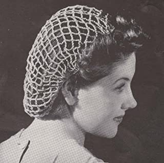 Beach Net Crochet Snood Hat Cap Crocheted Hairnet Hair Net Pattern