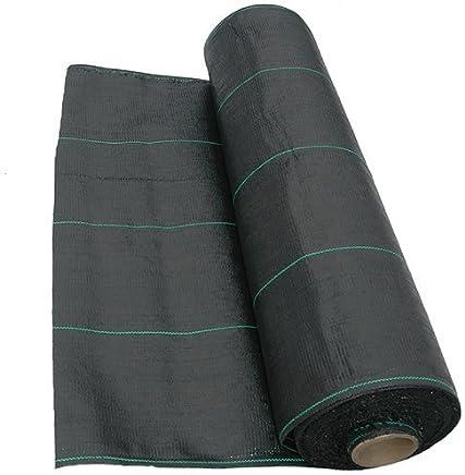 QVS Shop Heavy Duty Weed Control Fabric 1M X 50M Mulch Mat Landscape Path Patio Membrane
