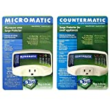 Two Electronic Surge Protector Combo Micromatic for Microwaves and Countermatic for Kitchen Appliances