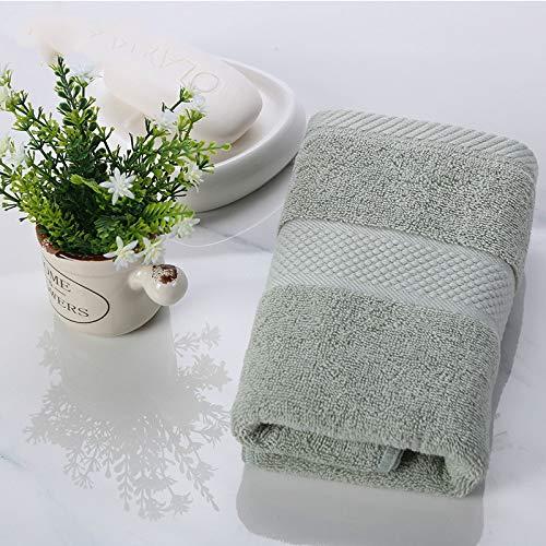 CMZ Puro algodón Lavado Facial algodón Suave Absorbente para el hogar Secado rápido para Hombres y Mujeres Toalla Facial Engrosada (34x74 cm)