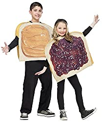Peanut butter and jelly sandwich costume