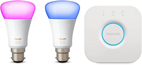 Philips Hue Hue White and Colour Ambiance Mini Starter Kit B22, 10 W