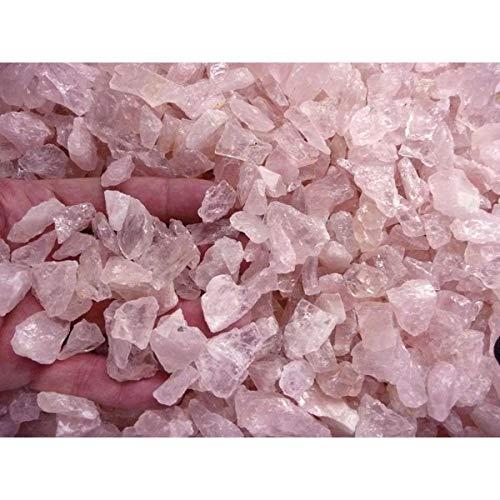 Cuarzo Rosa Pequeño en Bruto Calidad A (Pack 1 kg) Minerales y...