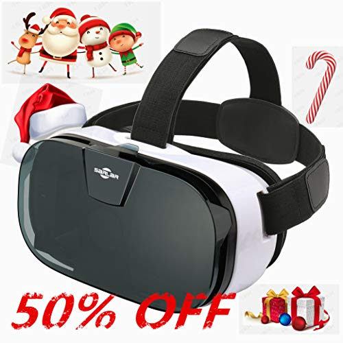 SARLAR 3D VR Headset, Virtual Reality Goggles Movies Video Games Viewer for iOS, Android, Microsoft & PC Phones Series Within 4.0-6.5 Inch