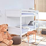 WestWood 3FT Bunk Bed Wooden Frame Children Sleeper No Mattress Single White Furniture New