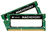 Corsair CMSA8GX3M2A1066C7 Apple 8 GB Dual Channel Kit DDR3 1066 (PC3 8500) 204-Pin DDR3 Laptop SO-DIMM Memory 1.5V, Beige