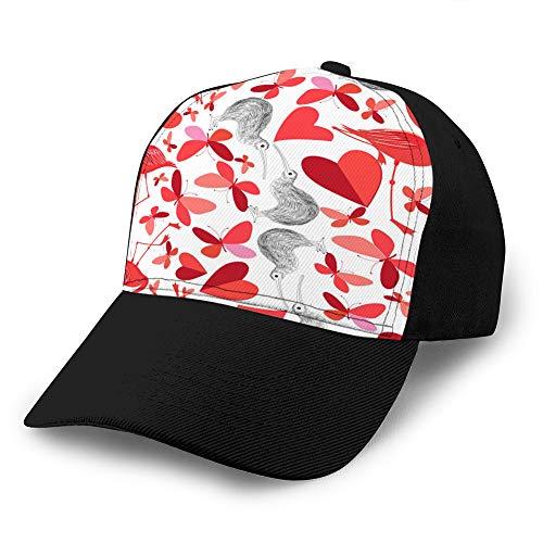 Sombrero clásico de algodón para papá Gorra Lisa Ajustable Gorra de béisbol de Mezclilla Personalizada para Adultos Hermoso patrón de Vacaciones para el día de Todos los Deportes Snapback