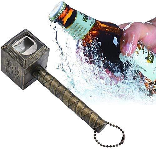 Alyssa Marvel Avengers Thors Hammer Flaschenöffner, Bier und Getränk Flaschenöffner, Großartiges Festival-Geschenk, Perfekt für Bar und Haushalt (Bronze)