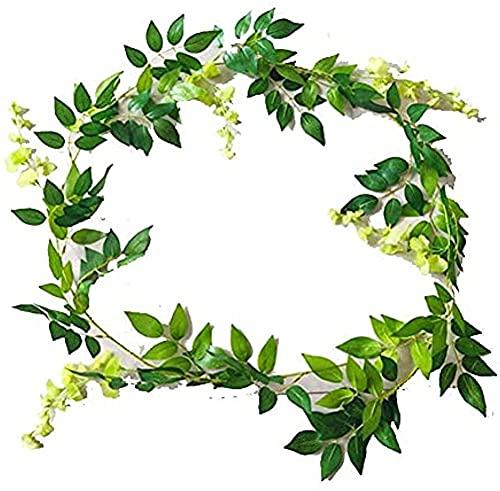 LUTIORE Flor artificial de ratán simulación flor corona plantas vid pared colgante ornamento fiesta fondo fotografía accesorios suministros