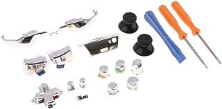 gazechimp Kit De Reparo De Botões De Gatilho De Conjunto Completo Para Xbox One Controller 3,5 Mm Jack Elite - Prata