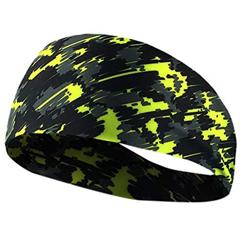 NEARTIME?Sports Headbands for Men Women, Athletic Head Sweatband, Non-Slip & Moisture Wicking, Elastic Yoga Headband Hairband