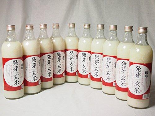 篠崎 国菊甘酒 発芽玄米 あまざけノンアルコール 985g×10本(福岡県) [並行輸入品]