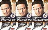 Bigen Speedy - Tinte de pelo para hombre (3 unidades), color marrón oscuro