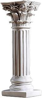 SDBRKYH Roman Column Plinth, Corinthian Pillar Roman Column Architectural Sculpture Decoration Home Desktop Vintage Resin Handicraft