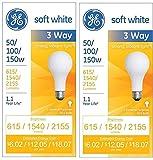 GE Soft White 3-way 50/100/150 Watt A21...