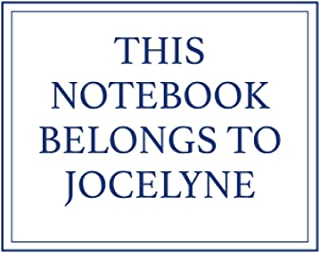 This Notebook Belongs to Jocelyne