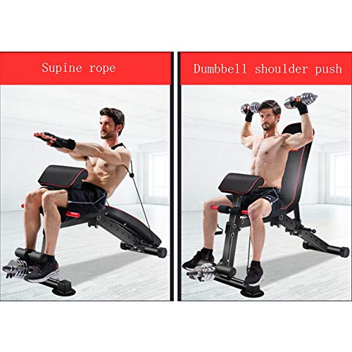 Weight Bench Adjustable Weight Bench-Utility Gym Bench for Full Body Workout, Multi-Purpose Foldable Incline Decline Benchs Dumbbell Bench