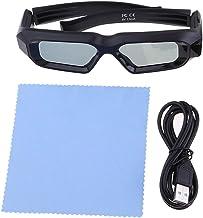 P Prettyia Universal Recargable Mini 3D Obturador Activo DLP Link Projector Glasses # 1