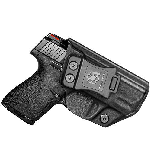 Amberide IWB KYDEX Holster Fit: S&W M&P Shield & Shield M2.0-9/40-3.1' Barrel | Inside Waistband | Adjustable Cant | US KYDEX Made (Black, Right Hand Draw (IWB))