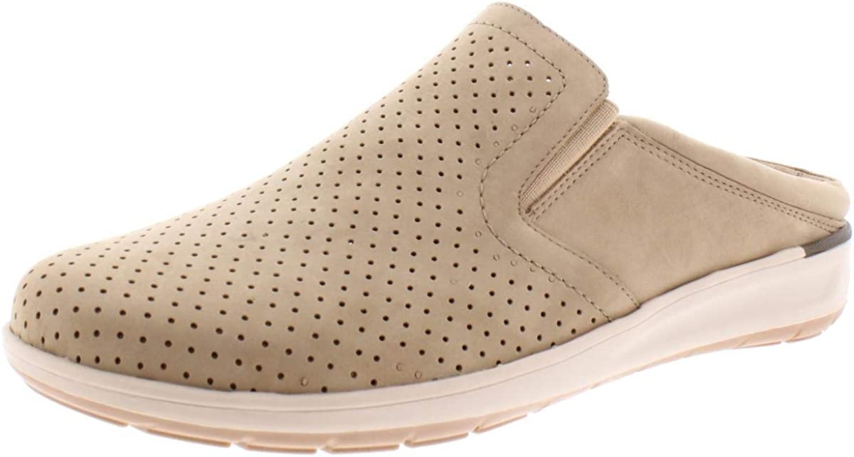 Walking Cradles Womens Leather Comfort Slip-On Sneakers Taupe 10.5 Wide (C,D,W)