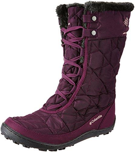 Columbia Women's Minx MID II Omni-Heat Snow Boot, Purple Dahlia, Ancient Fossil, 6 B US