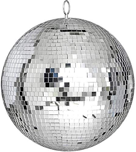 """12"""" Mirror Glass Disco Ball Decorative Party Bright Reflective DJ Dance Home Bands Club Stage Lighting"""