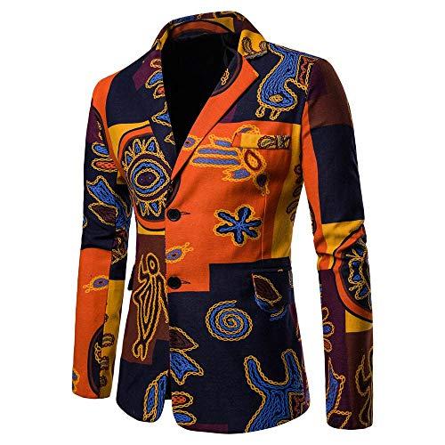 KPILP Strickjacke Herren Sakkos Dashiki Jacke Mode Casual Daily 2018 Neue Printed Suit Winterjacke Langarm Gedruckt Mantel Herbst Winter