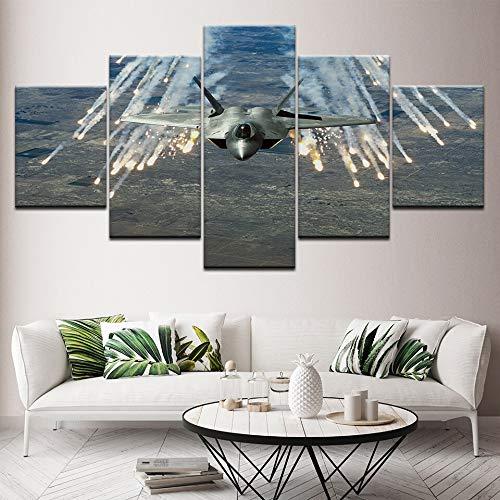 MMLFY 5 canvasfoto's vliegtuigen icon 5 stuks HD behang canvasdruk kunst poster modern modulaire schilderij kunst woonkamer decoratie No Frame 20x35 20x45 20x55cm