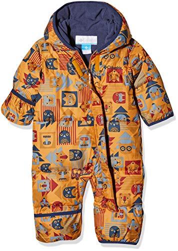 Columbia Schneeanzug für Kinder, Snuggly Bunny Bunting, Polyester, - Gelb, Blau (Canyon Gold Critter, Coll Navy) - 18/24 months