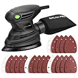 GALAX PRO Mouse Detail Sander,1.7A 15000 OPM Compact Electirc Sander with 20Pcs Sandpapers and Dust Bag,Soft Grip Handle in Home Decoration and DIY Working