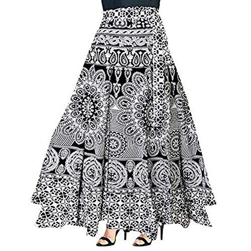 Sai Fashion Falda Boho Multicolor, Falda Cruzada, Falda Gitana India, Falda Maxi Bohemia Mandala...