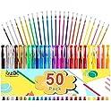 50-Pack Lineon Gel Pen Set (25 Colored Gel Pen with 25 Refills)
