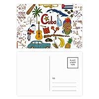 キューバの風景の動物の国旗 公式ポストカードセットサンクスカード郵送側20個