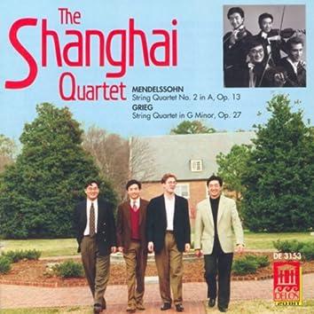 Mendelssohn, Felix: String Quartet No. 2 / Grieg, E.: String Quartet in G Minor