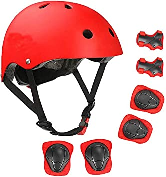Youth /& Adults Kids Protective Gear Multi-Sport Scooter Roller Skate Inline Skating Rollerblading for Kids XRZT Kids Helmet,Adjustable Bike Helmet with Knee Elbow Wrist Pads CPSC Certified Knee Pads and Elbow Pads 6 in 1 Set