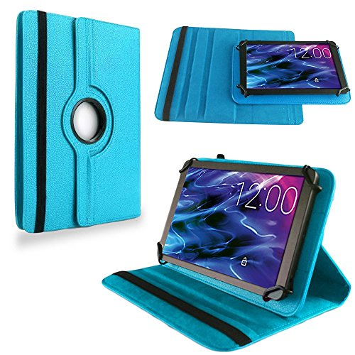 NAUC Tasche Hülle für Medion Lifetab S10321 Schutzhülle Tablet Cover Case Bag, Modellauswahl:Türkis mit 360° Drehbar