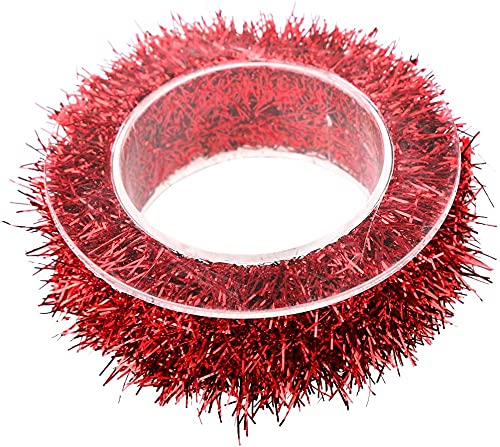 1.5m Glittering Wreath for Christmas Home Party Decoration-Chinese Red Durable