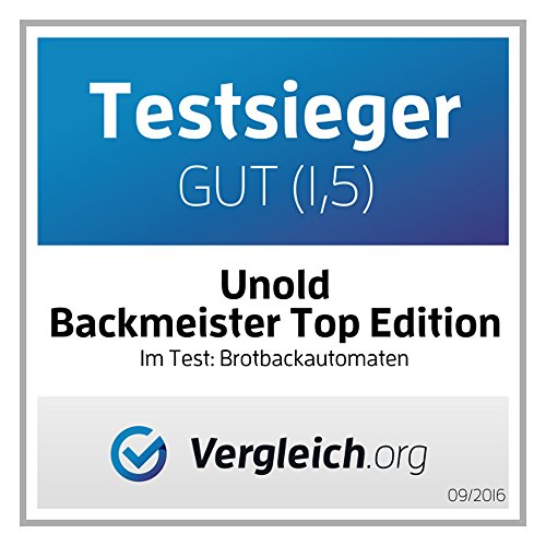 UNOLD Brotbackautomat Backmeister Top Edition, 615 W, 750-1200g Brotgewicht, Keramik-Beschichtung, 68415 - 9