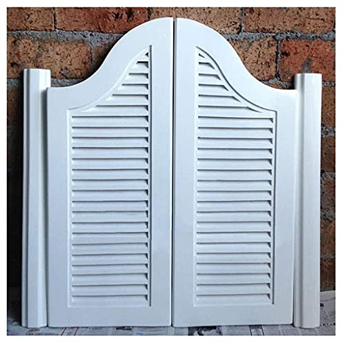 RTSFKFS Interior Doors Swinging Doors Cafe Doors, Cafe Doors Saloon Swinging Bar Pub Door Louvered, Hinges Included, Customizable, Blue/Yellow/Brown/White Saloon Doors Home Accessories
