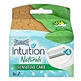 4 x 3 Wilkinson Sword Intuition Natural Rasierklingen Sensitive Care/ Kein Rasiergel,-schaum oder Duschgel erforderlich -