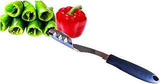 Pfeffer Entkerner Chili Küche Werkzeug Entferner Edelstahl Entkerner Jalapeno Gummigriff